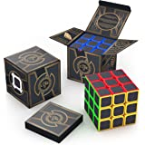 aGreatLife The Original Cube Carbon Fiber 3x3 - Super Sticky Stickers, Easy to Twist Colorful Cubic Toy - Speed Cube II 3x3x3 Logic Puzzle - Best Smart Games from Toddlers to Professional Adults