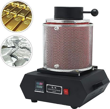 2 kg Digital oro fusión horno 110 V refinado de fundición de ...
