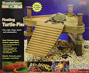 Penn-Plax REP602 The Reptology Floating Turtle Pier & Basking Platform Pet House, Small