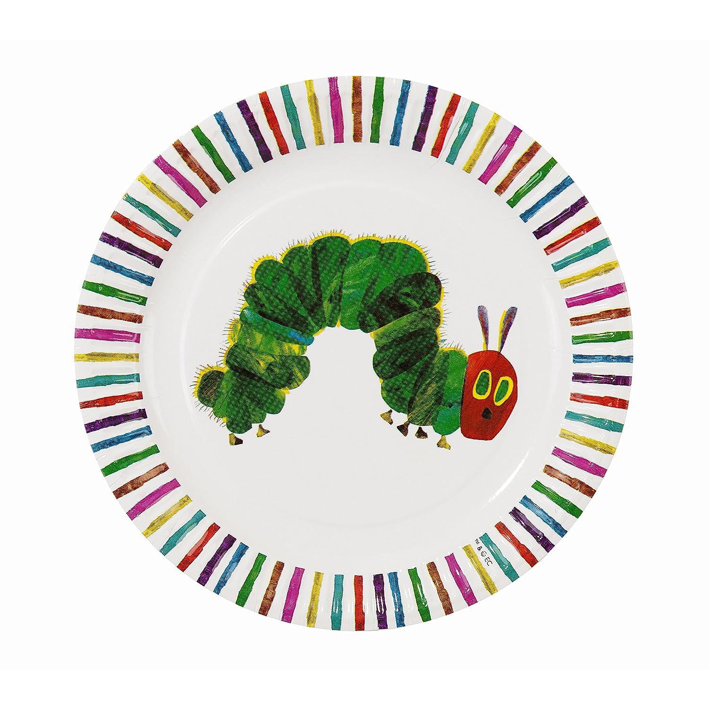 sc 1 st  Amazon.com & Amazon.com: Hungry Caterpillar Paper Party Plates: Kitchen \u0026 Dining
