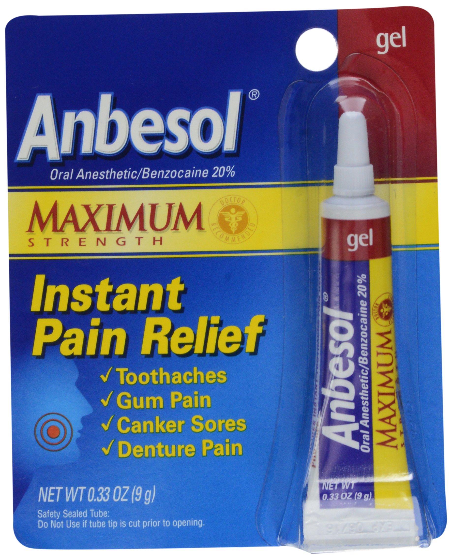 Anbesol Gel Maximum Strength, 0.33 oz by Anbesol