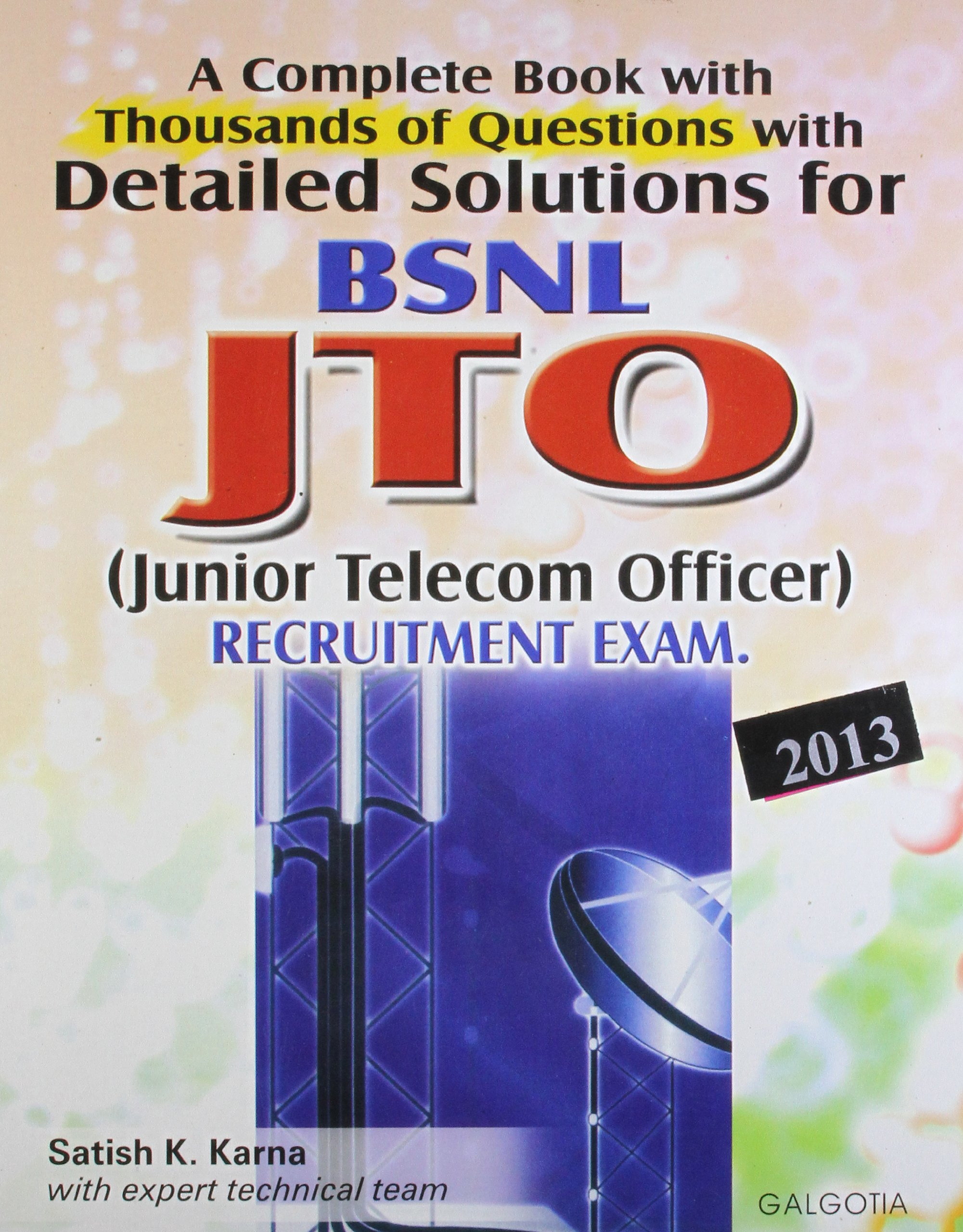 Buy BSNL JTO Recruitment Exam Book Online at Low Prices in India | BSNL JTO  Recruitment Exam Reviews & Ratings - Amazon.in