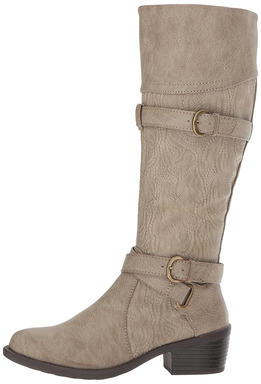 Easy Street Women's Kelsa Harness Boot B071PF8DXN 9.5 M US|Taupe/Embossed