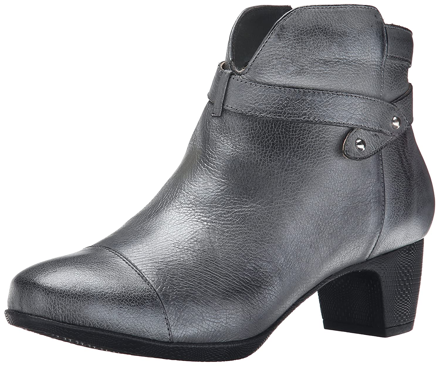 SoftWalk Women's Ivanhoe Harness Boot B00S02UHEY 8 W US|Pewter