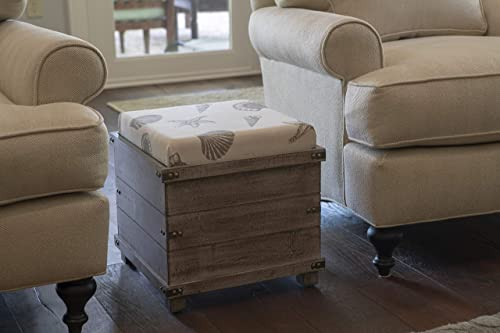 Decor Therapy Hadley Weathered Storage Ottoman