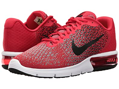 6fd2abc11a5 Nike Men s Air Max Sequent 2 University Red Black Black Running Shoe 10. 5  Men US  Buy Online at Low Prices in India - Amazon.in