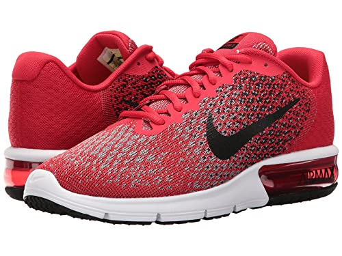 a992cb8832 Zapatillas de running Nike Air Max Sequent 2 University rojas / negras / negras  para hombre 10.5 Men US: Amazon.es: Zapatos y complementos