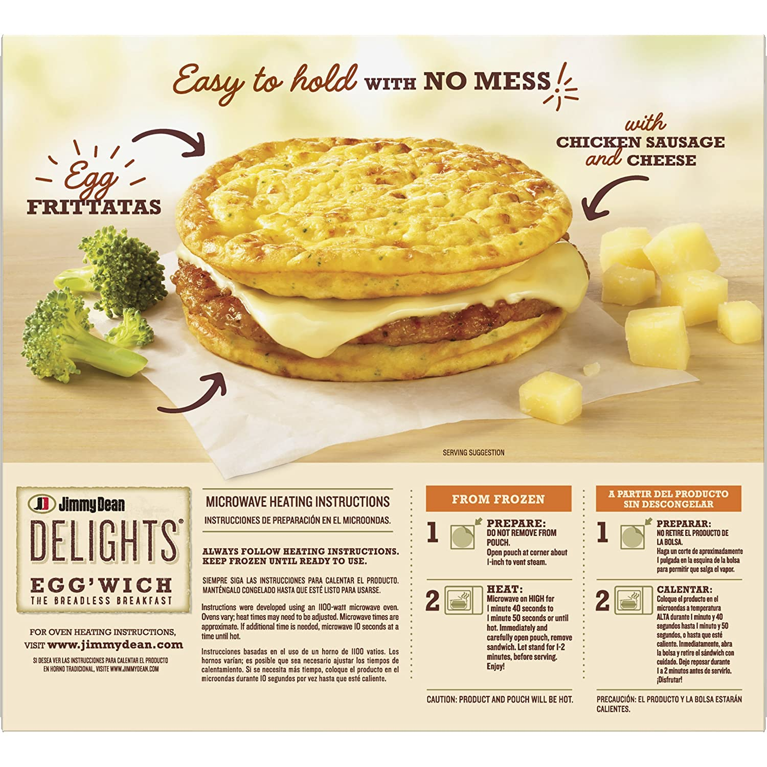 Jimmy Dean Delights Broccoli Cheese Eggwich, 4 Count: Amazon.com: Grocery & Gourmet Food