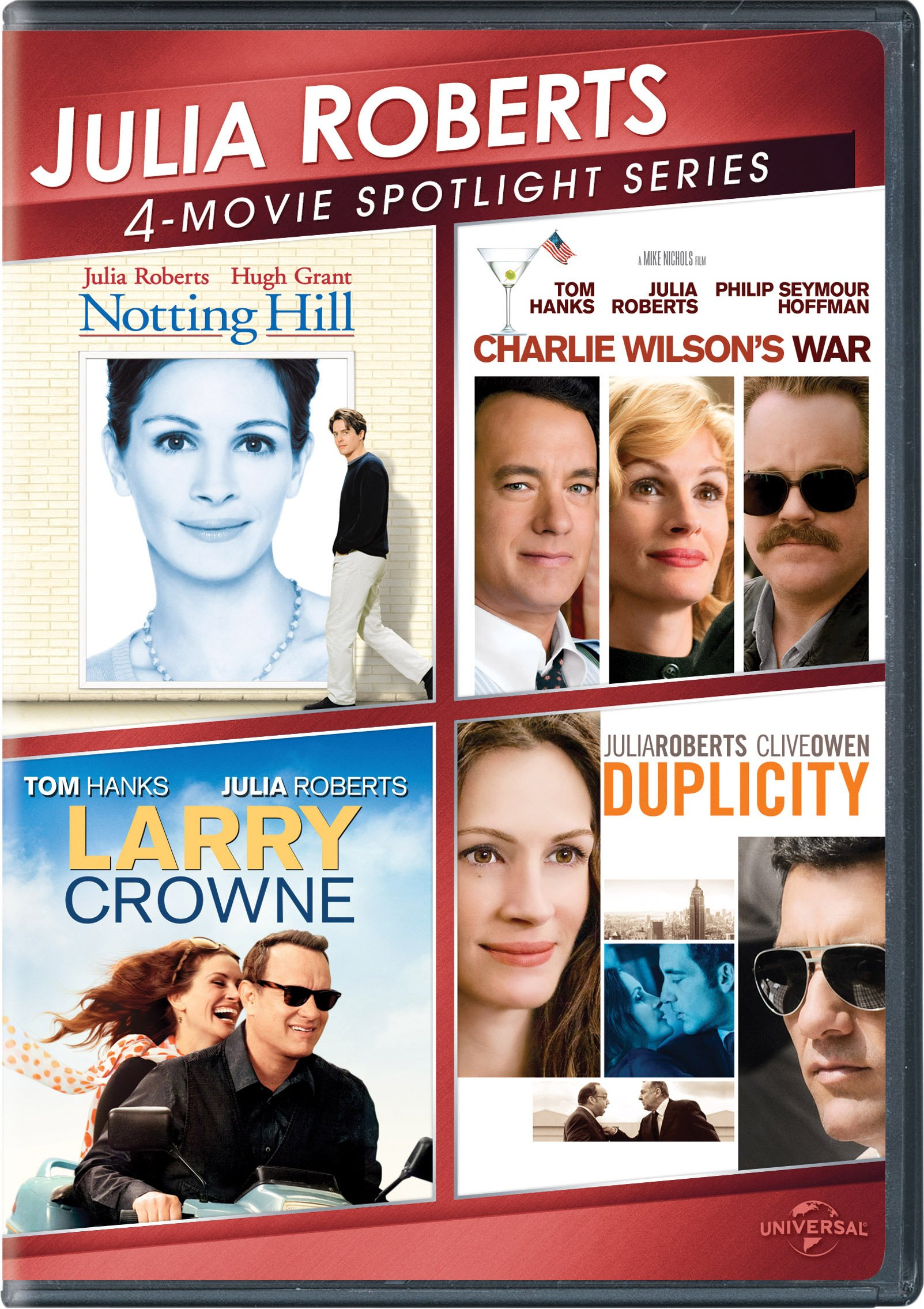 DVD : Julia Roberts 4-Movie Spotlight Series (Snap Case, 3 Pack, 3 Disc)