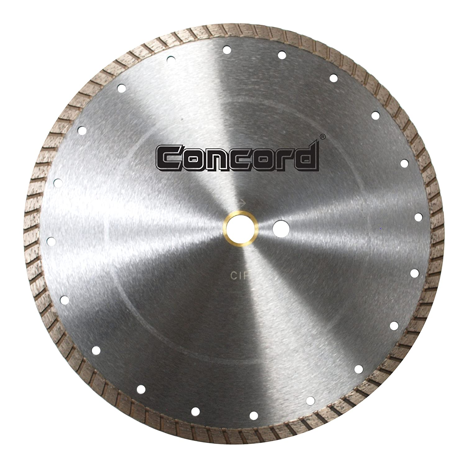 Concord Blades CTW090D10CP 9 Inch Continuous Wide Turbo Teeth Diamond Blade with Cooling Holes