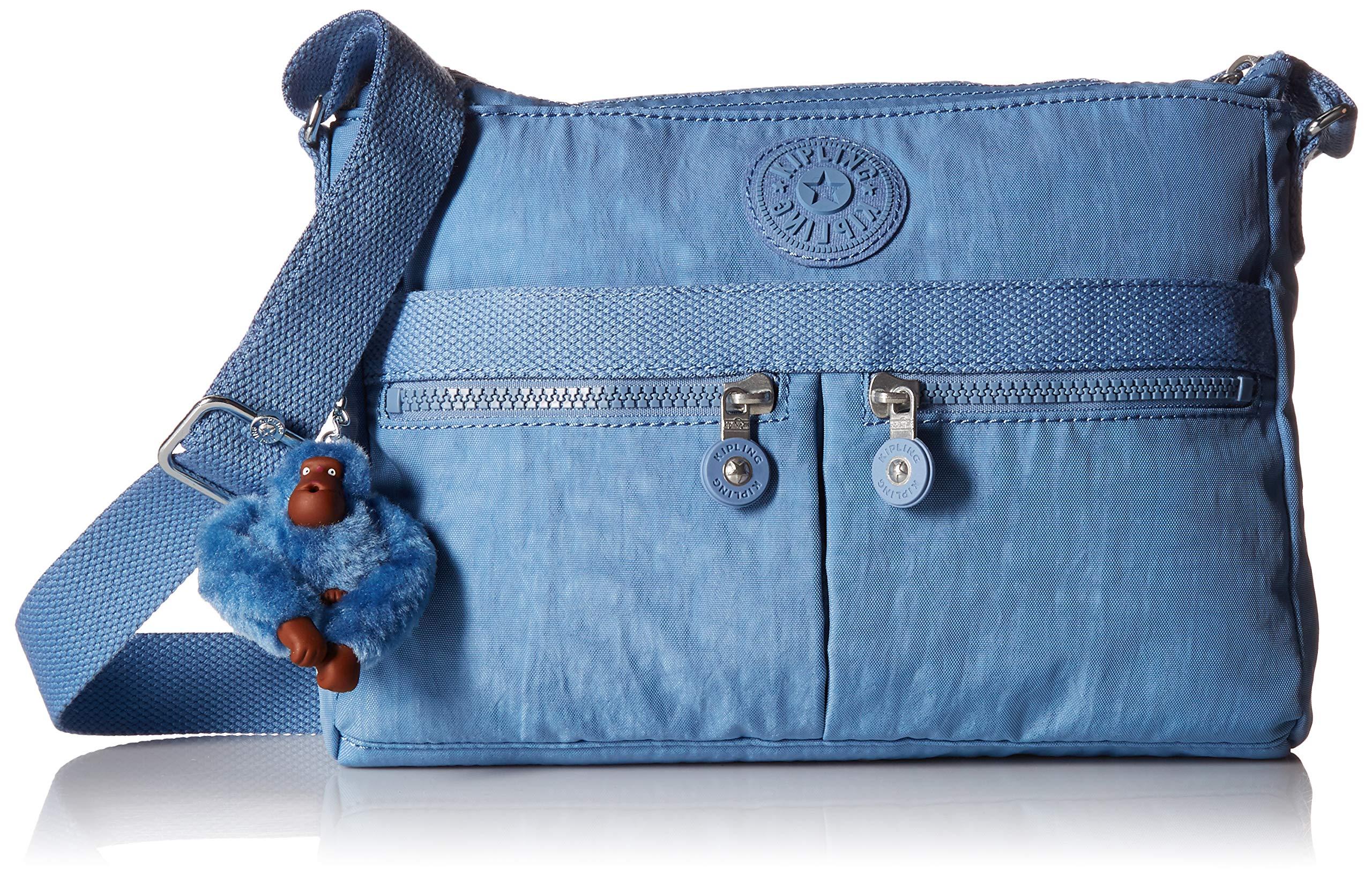 Kipling Women's Angie Solid Crossbody Bag, Dream Blue