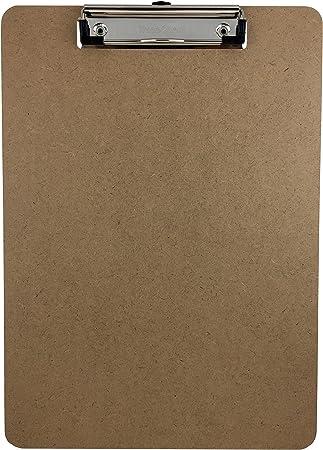 Office 2 Pack Standard Size Hardboard Clipboard with Low Profile Clip School