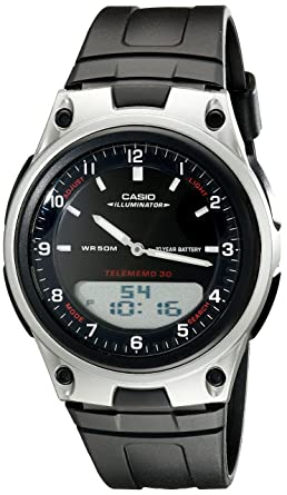 8f7894ec55a Amazon.com  Casio Men s AW80-1AV Forester Ana-Digi Databank Watch ...