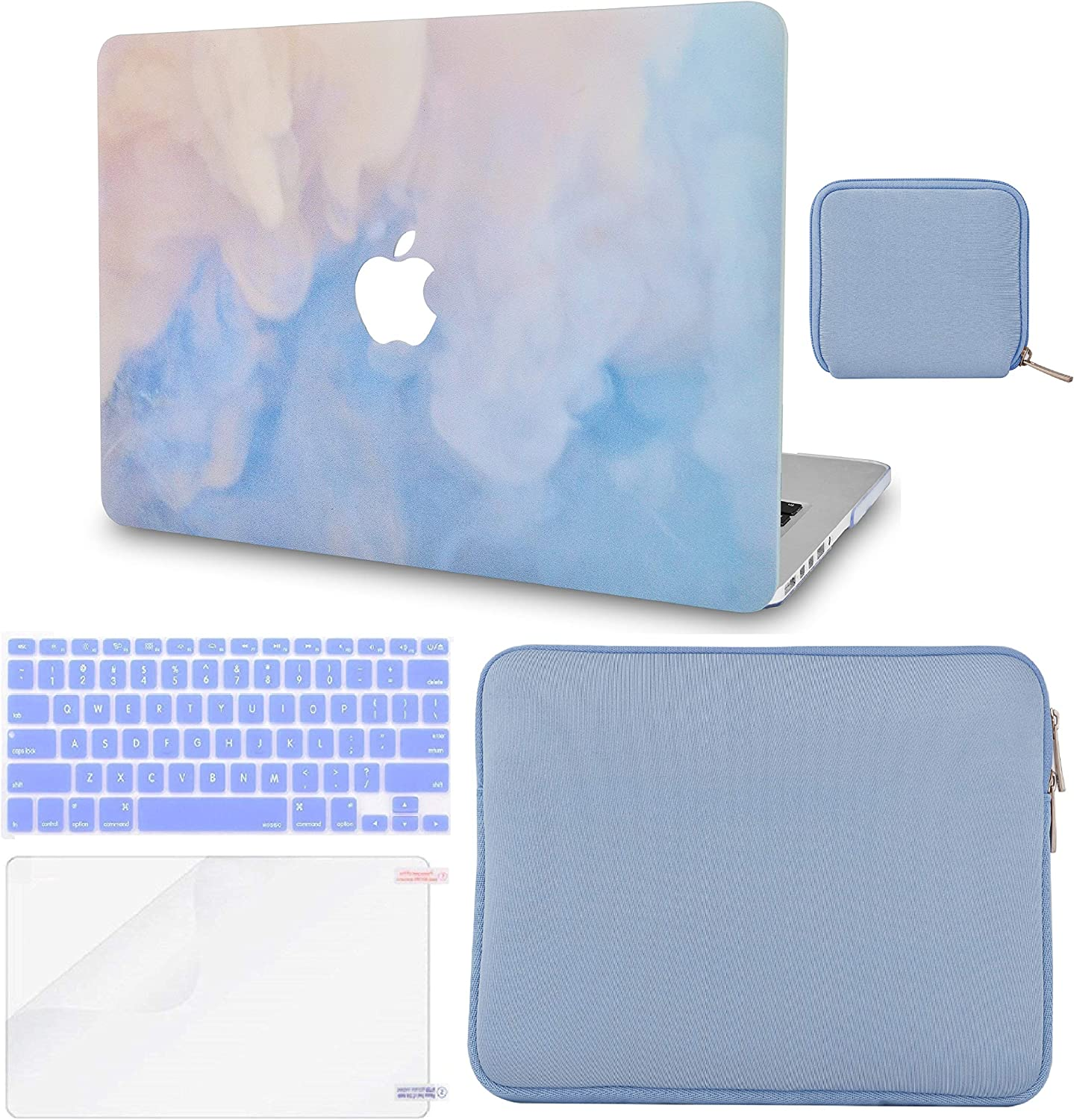 LuvCase 5 in 1 Laptop Case Compatible with MacBook New Air 13