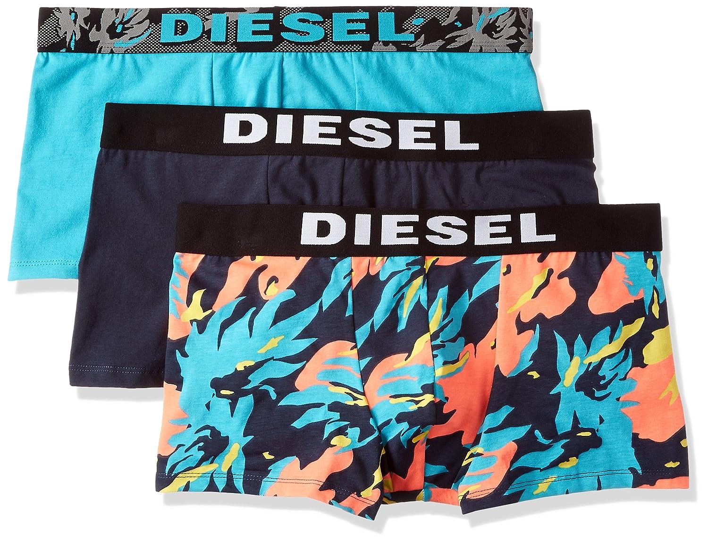 (ディーゼル) DIESEL メンズ ボクサーパンツ 3パック UMBX-SHAWNTHREEPACK Boxer 3pack 00SAB20SAQN B073XQN1DK L (L)|ターコイズブルー ターコイズブルー L (L)