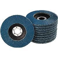 10 stuks lamellenschijven, Ø 125 mm, korrel 40, blauw/INOX lamellen/schuurschijven/lamellenslijpschijf