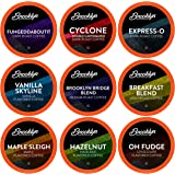 Brooklyn Beans Coffee Pods Assorted Gourmet Variety Pack, Compatible with 2.0 Keurig K Cup Brewers, (Dark, Light, Medium…