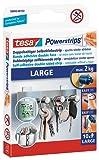 tesa Powerstrips LARGE / Doppelseitige Klebestreifen zur Montage von Gegenständen bis 2kg - wieder ablösbar und mehrfach verwendbar / 1 x 10 Strips