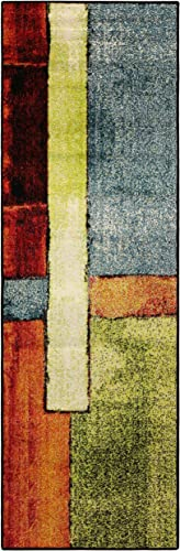 Superior Lilith Collection, 10mm Pile Height with Jute Backing, Quality and Affordable Area Rugs, 2 7 x 8 Runner – Multi Color