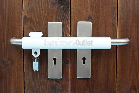 250u Patio Door Handle Lock With Padlock Double Door Extra Security