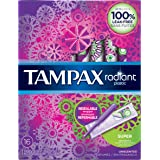 Tampax Radiant Plastic Super Absorbency Tampons 16 Count