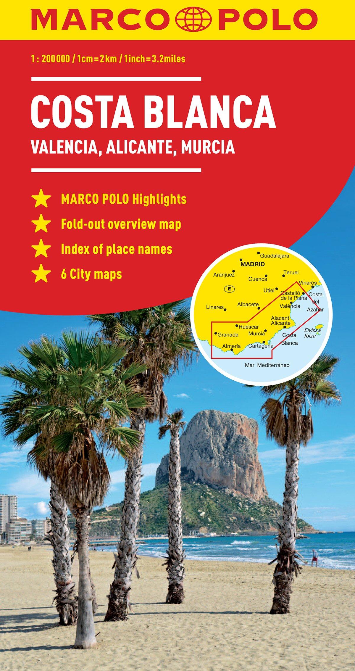 Costa Blanca Marco Polo Map (Marco Polo Maps): Amazon.co.uk: Marco ...