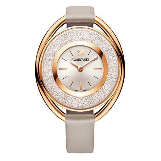 Swarovski Crystalline Oval Rose Gold Tone Watch  Amazon.co.uk  Watches d10d8bd1ae