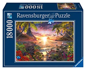 Ravensburger Paradise Sunset 18,000 Piece Jigsaw Puzzle for Adults – Softclick Technology Means Pieces Fit Together Perfectly