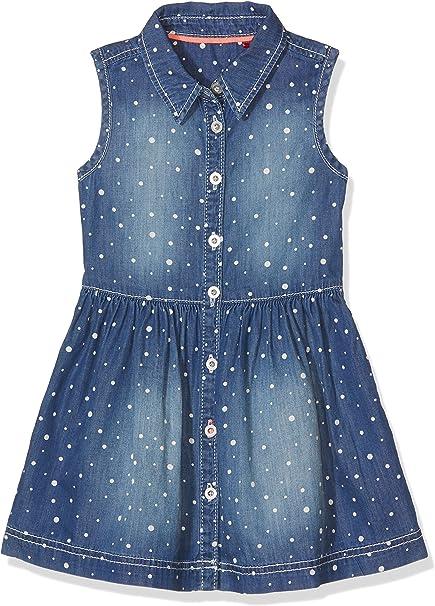 S Oliver S Oliver Madchen Kurz 53 703 82 2632 Kleid Blau Blue Denim Non Stretch 55y3 122 Kleider Amazon De Bekleidung