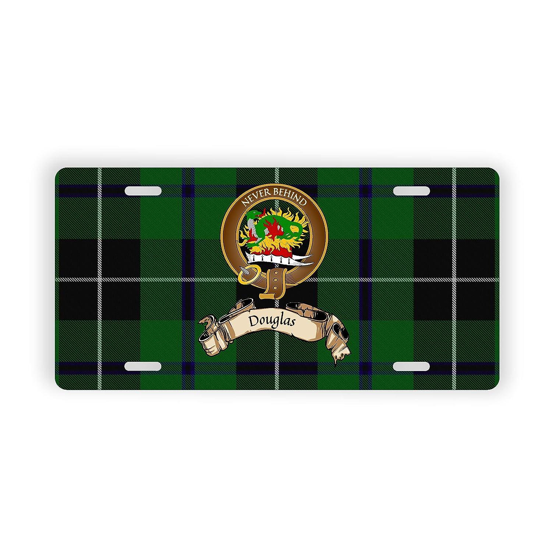 Douglas Scotland Clan Tartan Novelty Auto Plate