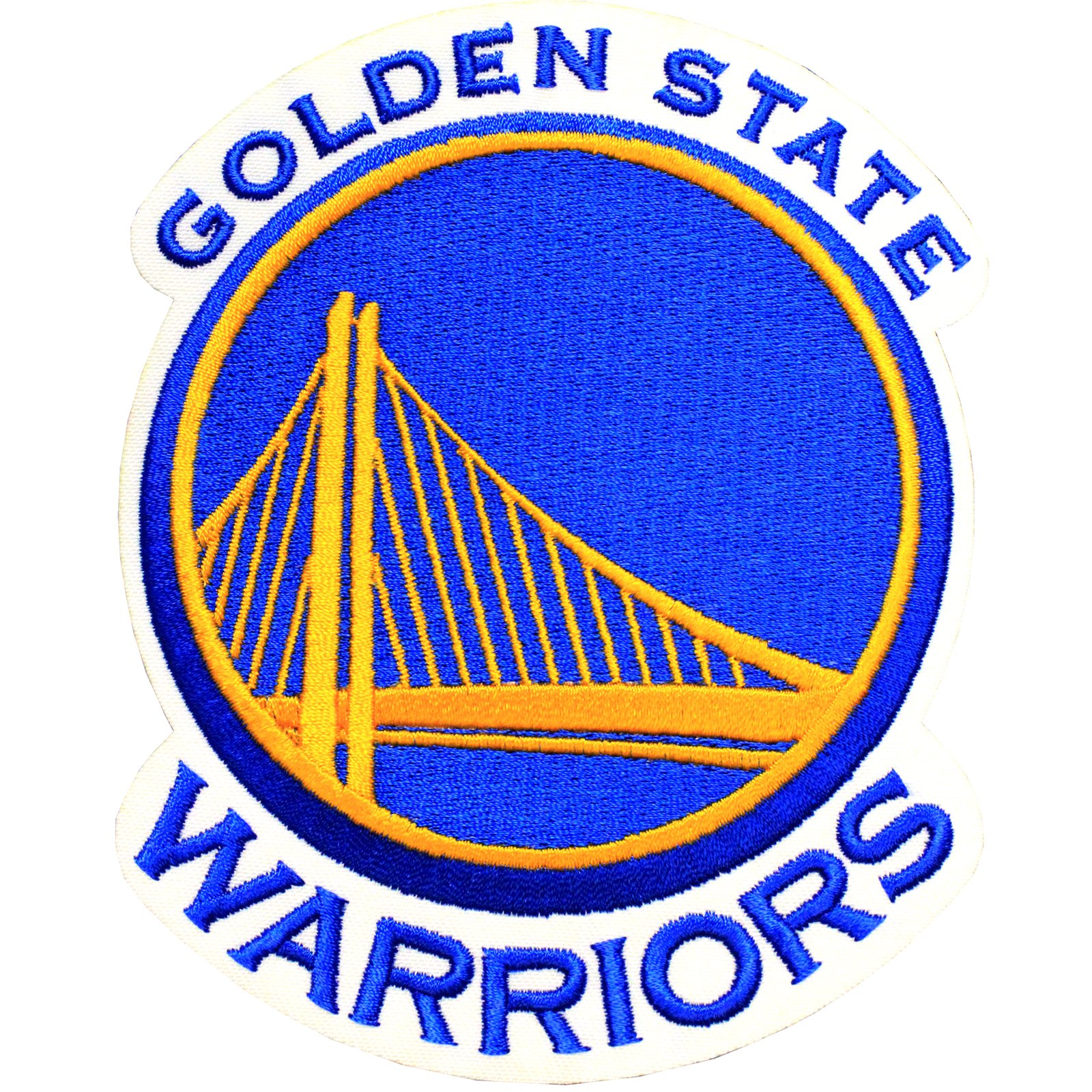 Official Golden State Warriors Logo Large NBA Basketball Patch Emblem by Patch Collection