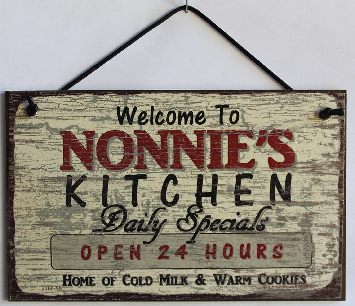 Welcome to NONNIES PLACE Weekends Weekdays 5x8 Vintage Style Sign with Sunflower Saying Whenever  Decorative Fun Universal Household Signs from Egberts Treasures