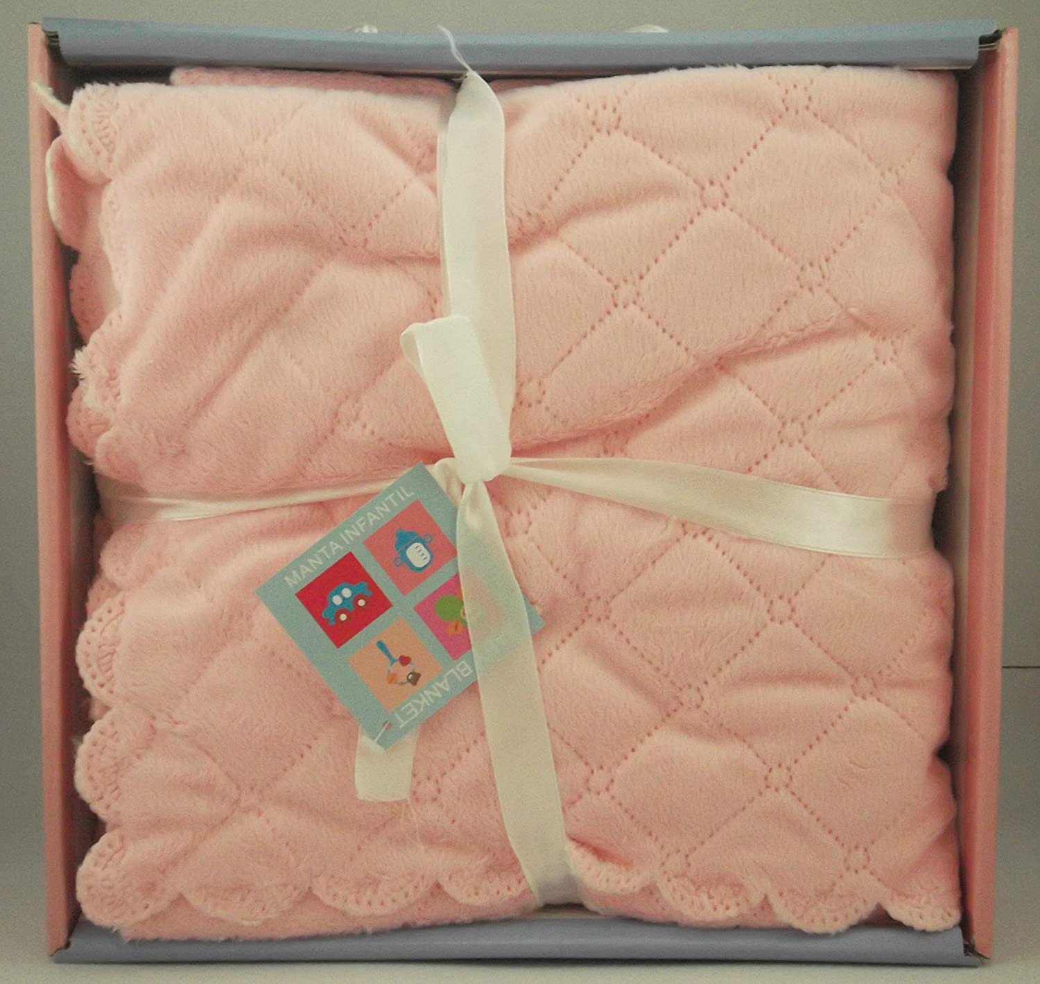 Baby Blanket for Car / Crib, Newborn Baby Gift, Size 80 x 110 cm One Size pink