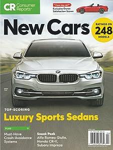 CR CONSUMER REPORTS MAGAZINE, NEW CARS RATING 248 MODELS APRIL, 2017