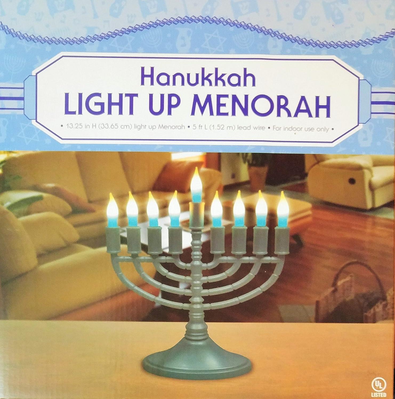 Amazon Hanukkah Light Up Menorah Home & Kitchen
