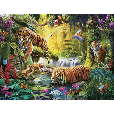 Ravensburger 16005 Tranquil Tigers 1500 Piece Puzzle for Adults - Every Piece is Unique, Softclick Technology Means Pieces Fit Together Perfectly: Toys & Games