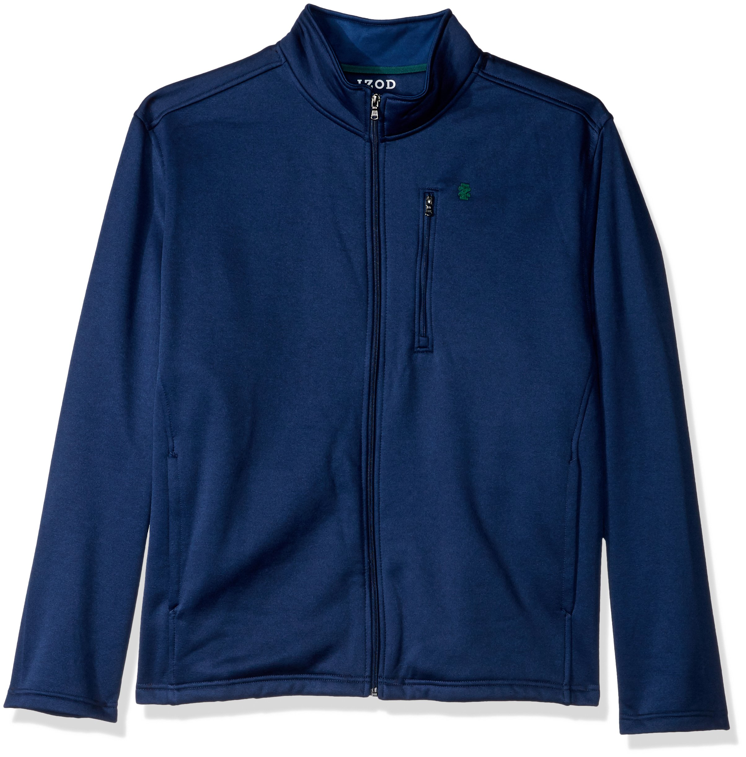 IZOD Men's Big and Tall Spectator Solid Fleece Jacket, Estate Blue Heather, 2X-Large Tall