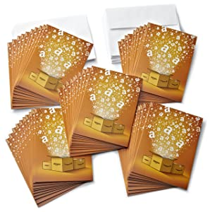 Amazon.com $5 Gift Cards, Pack of 50 with Greeting Cards (Amazon Surprise Box Design)