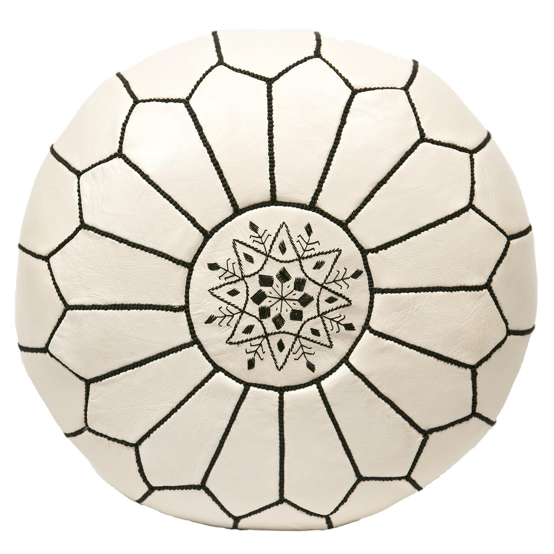 Black And White Pouf Amazoncom Casablanca Market Moroccan Embroidered Cotton Stuffed