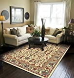 Traditional Area Rugs Cream Rugs for Living Room 5x7 Clearance Under 50