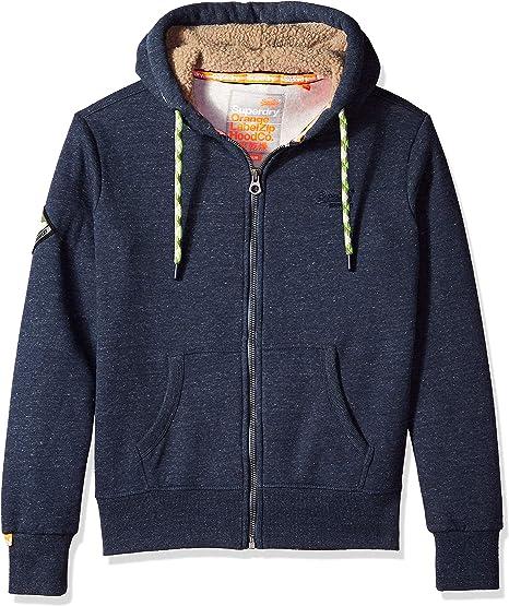 Superdry Men's Orange Label Zip Hoodie