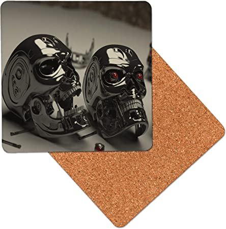 Gorros Terminator Posavasos de madera de primera calidad - base de ...