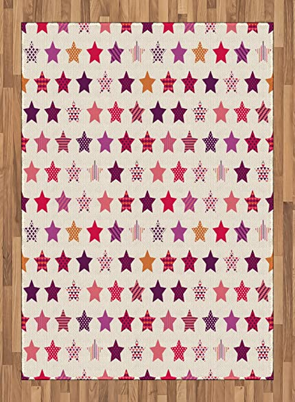 Amazon.com: Modern Area Rug by Ambesonne, Different Types of Star ...