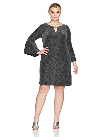 8f51bc8cacf Jessica Howard Women s Plus Size Keyhole Neck Shift Dress at Amazon ...
