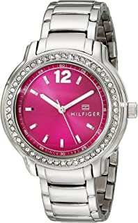 Tommy Hilfiger Womens 1781501 Crystal-Accented Stainless Steel Watch