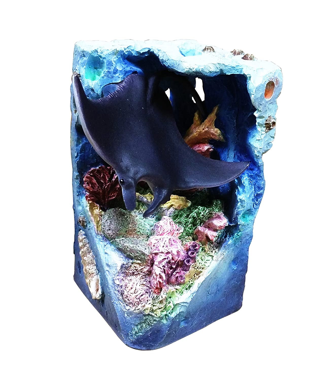 Best 2 Piece Penguin and Stingray Ocean Beach Island Water Themed Carved Figurine Unique Home Decor 2018 Present for Mom Wife Teacher Nurse Parent Grandparent Fisherman Family Mill Creek Studios