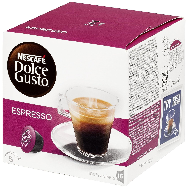 Nescafé Dolce Gusto - Espresso - Cápsulas de Café - 16 Cápsulas: Amazon.es: Alimentación y bebidas