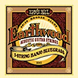 Ernie Ball Earthwood 5-string Banjo 80/20 Bronze Loop End Bluegrass Set.009 - .020
