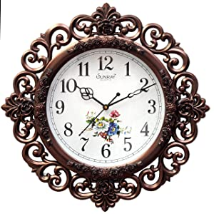 E-DEAL Attractive Look Floral Design Analog Wall Clock-EDWALCLK07