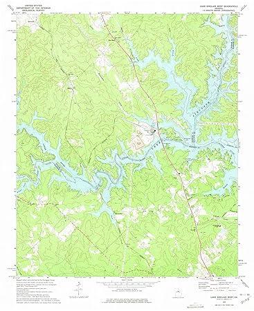 Amazon.com: Georgia Maps - 1972 Lake Sinclair West, GA USGS ... on vintage topo map, united states topo map, cedar creek topo map, lake sinclair georgia map, oconee national forest topo map, ga power lake sinclair map, lake sinclair history,